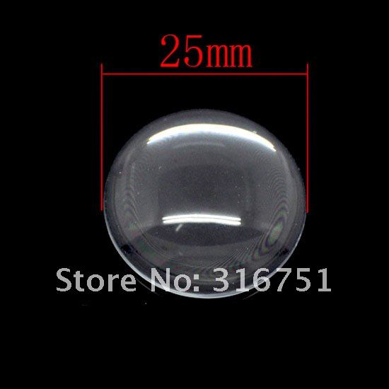10 Clear Round Cabochon Glass Dome Tile Seals 25mm For Photo Craft Jewelry Make(W01557 X 1)