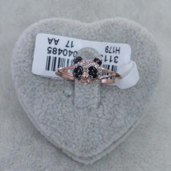 Кольцо Панда покрытое 18К позолотой 110грн