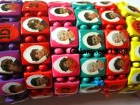 Ювелирное изделие 42 x mixed one direction wood bracelets earrings silicone wristbands pendants