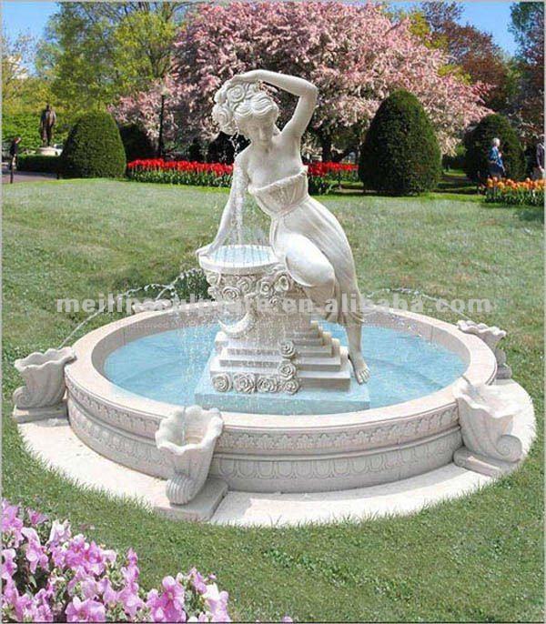 Antique jardin marbre lion statue fontaine conception for Statue fontaine de jardin
