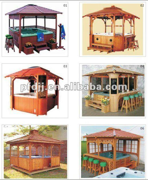 gazebo jardim madeira:Durável pavilhão ao ar livre de madeira gazebo do jardim-Gazebos-ID