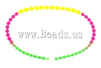 Free shipping!!!Fashion Necklace Jewelry,Hot Selling, Silicone, multi-colored, 5.5-10mm, Length:Approx 19 Inch, 50Strands/Lot