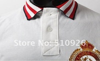 2012 Free shipping New ARRIVAL HOT SALE Spring Fashion Logo Slim Men's POLO shirt long-sleeved T shirts Colors navy white M L XL