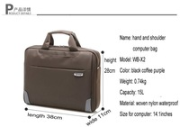 Портфель 2012 new brief case notebook/ labtop/ computer bag/ handbag and shoulder bag for 17inches and #X2