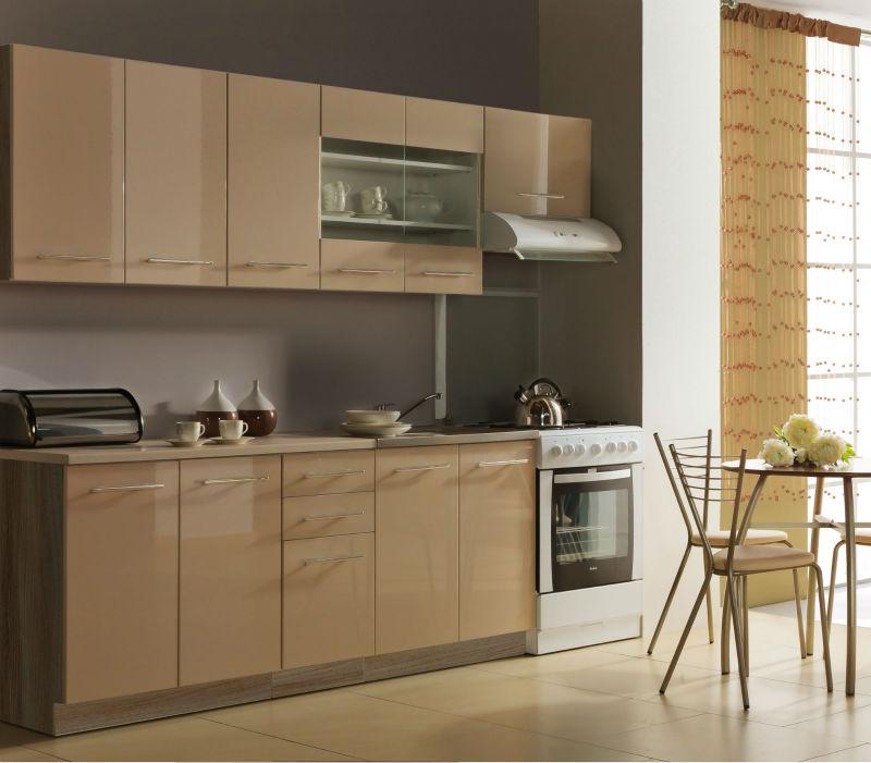 calidad de los gabinetes de cocina de alto brillo moderno gabinete de