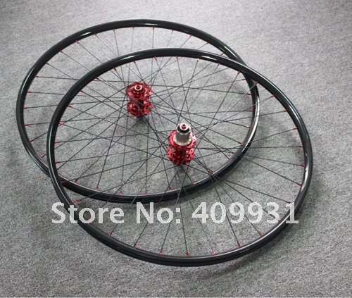 Toray T700 carbon fiber bicycle parts 2012 most popular 29er MTB  carbon wheels 1k weave high quality with 2 years of warranty