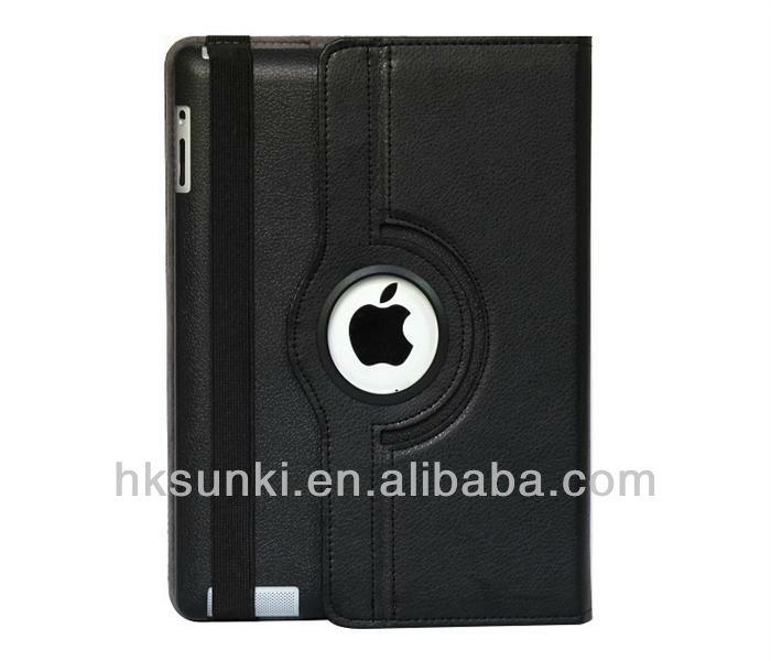 Fashion rotating stand pu leather case cover for ipad mini