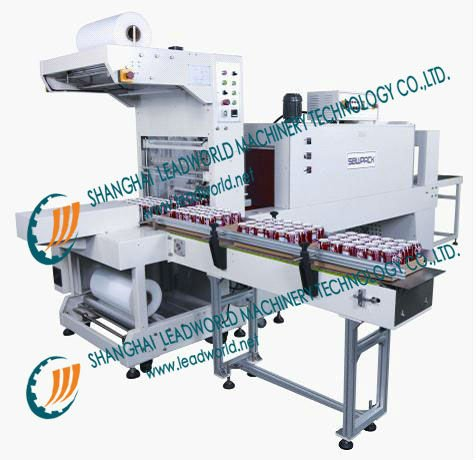 automatic botle wrapping packing and shrinking film wrapping machine and shrinking film wrapping machine