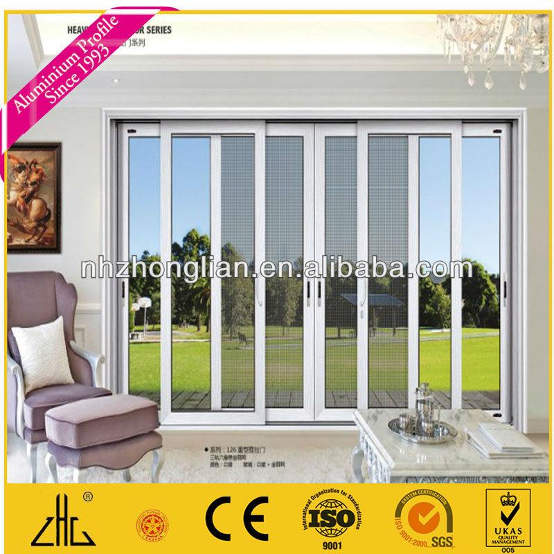 거운 판매 나무 곡물 알루미늄 프레임 유리 미닫이 문& Windows ...