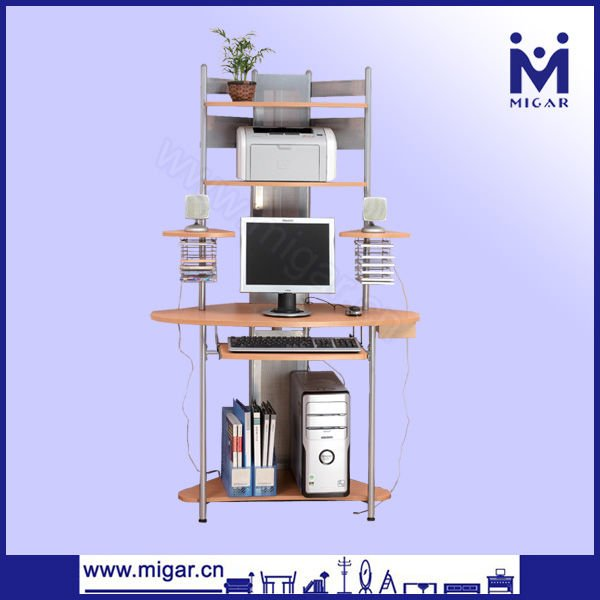 Computer Desk,Modern Corner Computer Tower Table,Tall Computer Desk