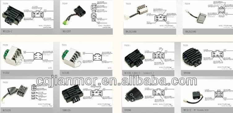 space silicon 4 wires regulator rectifier motorcycle spare parts buy regulator rectifier