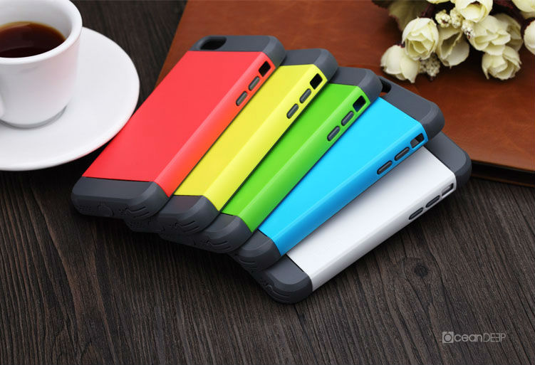 Colorful tough armor protective case for iphone 5s