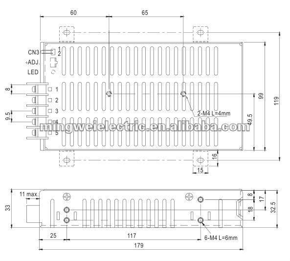 SP-75-3.3 Single Output LED Power Switching Supply, 220v 3.3v power supply, 220v ac to dc converter power supply