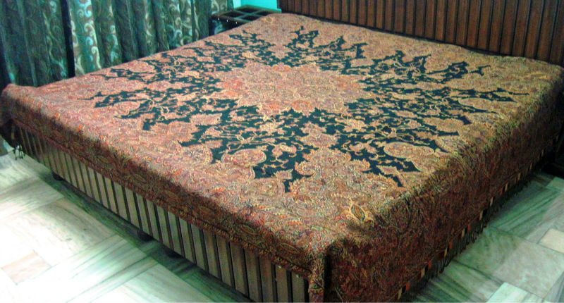 indian Wool jacquard bedspreads