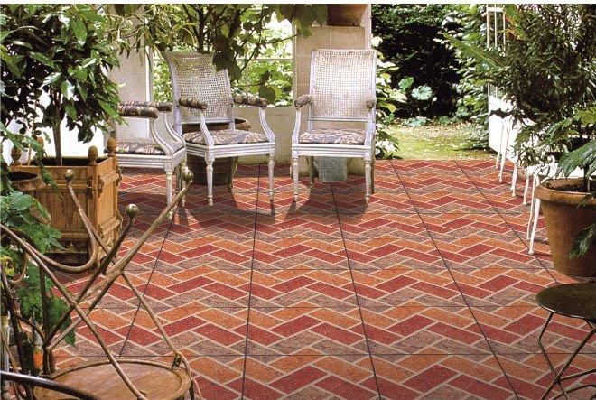 Vitrage rustique en c ramique carrelage de carreaux de briques usine 380 x - Faire une bordure de jardin en briques ...
