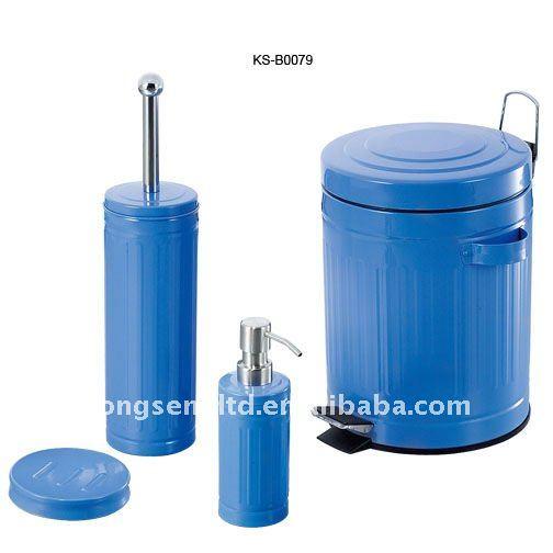 Accesorios Baño Verde:de color verde 3 piezas set de accesorios de baño-Instalaciones de