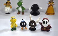 "Super Mario Bros 1.5 2.5"" Lot 18 pcs Action Figure Doll free shipping"