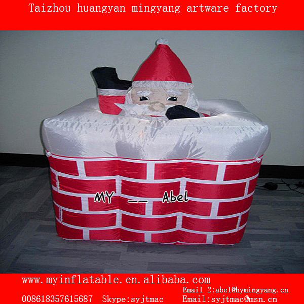 MY Inflatable christmas decoration pop up santa