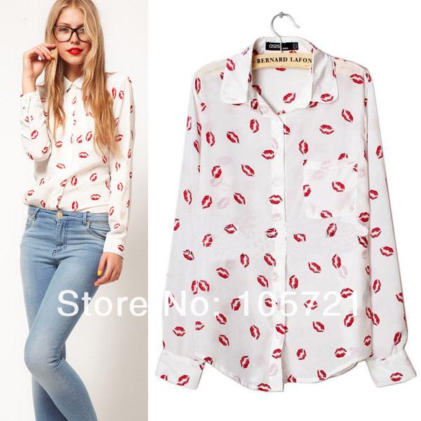 Купить Блузка С Губами