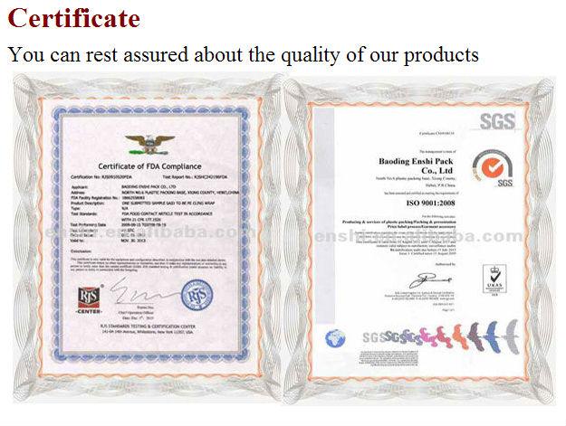 hot selling casting transparent silder cutter box manufacturer/factory pe cling film for food/meet/fruit supermarket/hotel