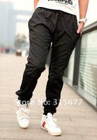 Продажа! Мода вышить логотип дизайн Брюки мужские спортивные брюки прямые брюки серый/черный s-xxl yj417