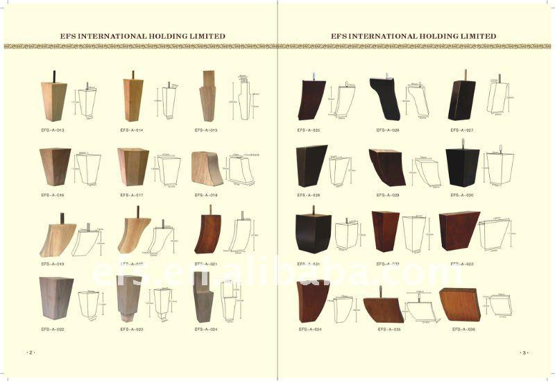 Useful Unpainted Round Short Sofa Legs Wood Wood Sofa Leg