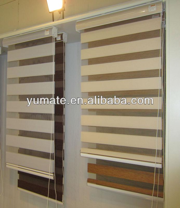 New Design Of Combi Double Roller Blind Fabric Zebra