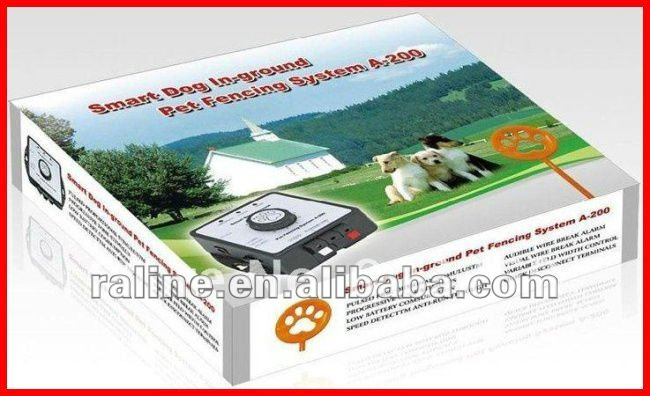 A200 Dog Training Collar Electronic dog Fence In-garden Smart Dog Pet Fencing System-Receiver Can Be Charged,Pet Fencing