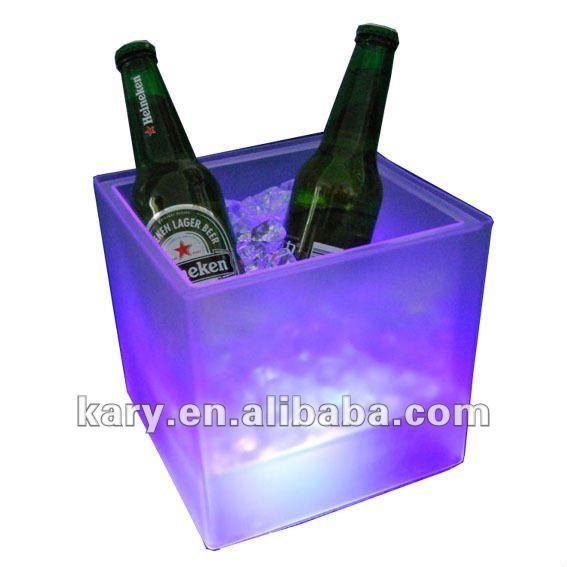 Cube Shape LED Wine Ice Bucket,LED Bucket,Ice Bucket for Wine