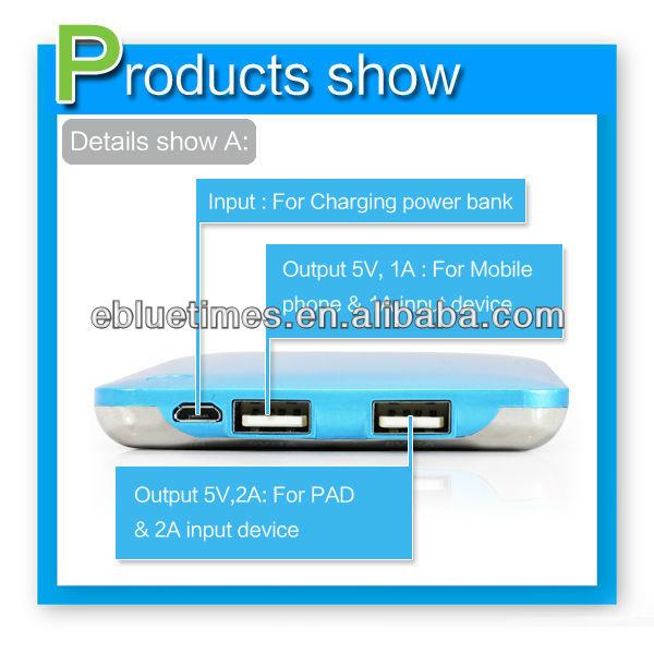 universal portable power bank 20000 mah,high capacity power bank with dual usb output