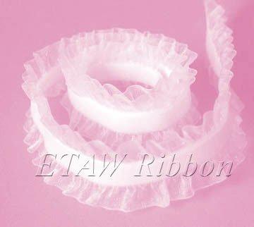 Double Frill Elastic Velvet Ribbon