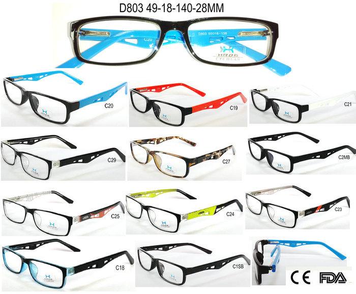 D803 Spring hinge Eyewear Vintage Acetate injectio...