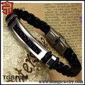 top venta de moderno negro super calidad pulseras tejidas a mano