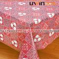 toalha de mesa de casamento fornecedor parte vermelha toalha de flores