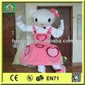 hola 2014 ce de alta calidad top venta hello kitty traje de la mascota para adultos