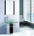 Clásico diseño de cristal lavabo TB017