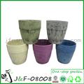 la decoración de jardín de madera de textura jarrones de flores al por mayor