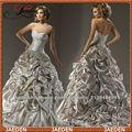 W015 satén de bola del amor del vestido de boda vestido de cuello