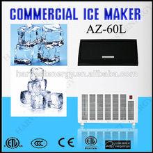 Az-60l mini casa de flujo de agua del cubo de hielo fabricante de fabricante de/de hielo que hace la máquina