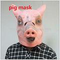borracha máscara de porco animal farm assustador porco assustadora serra de terror halloween fantasia vestido