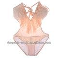 2013 caliente sexy borla estilo v- cuello acolchado correa de una pieza de trajes de baño bikini