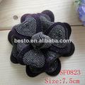 lentejuelas decorativas flores hechas a mano sf0823 gris zapata de accesorios