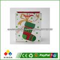 de alta calidad diferente de navidad de regalo bolsas de papel de impresión