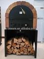 2014 portátil madeira forno açoinoxidável wood fired forno de pizza com chão de pedra