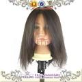 100% cabello humano trainning cabeza maniqui de pelo negro para la venta