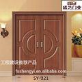 proyecto de doble puerta de madera desogns
