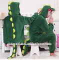 Venta al por mayor para hombre bodies/el último estilo de dibujos animados verde dinosaurio de disfraces