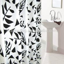 extra ancho de ducha del poliester tela de la cortina