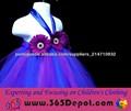 2014 Hot Sale a mais bela flor meninas Vestido Azul Royal Full-length vestido de baile Flower Girls Dress