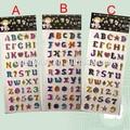 divertido alfabeto puffy pegatinas para los niños